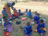 Kids participating in the training (sensory evaluation)