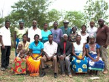 Group photo of training participants and teacher