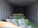 Hatchery tanks in the container
