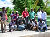 Team Malawi and Team Germany happy to see the tanks in a good condition on the slab...